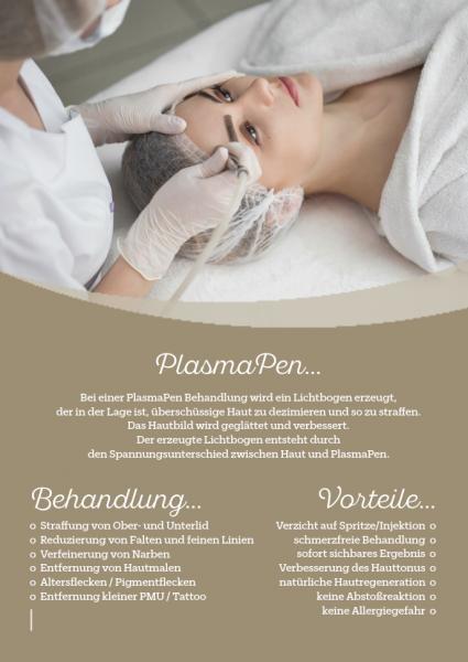 Werbeposter für PlasmaPen Behandlung, 2 Stck.