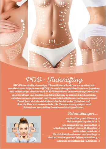 Werbeposter für PDO-Fadenlifting Behandlung, 2 Stck.