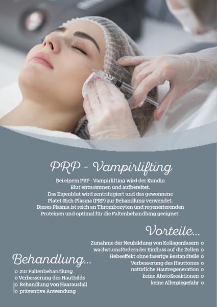 Werbeposter für PRP-Vampirlifting Behandlung, 2 Stck.