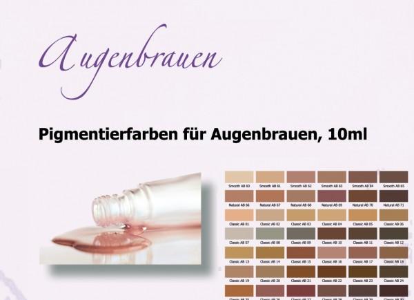 Pigmentierfarben Augenbrauen Premium True Color