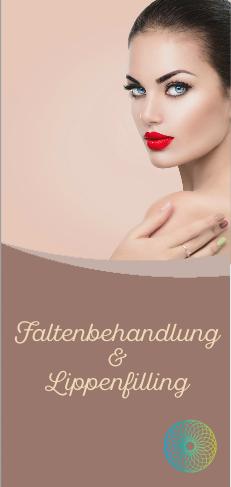Werbeflyer für Falten und Lippenbehandlung, 30 Stck.